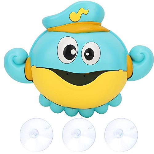 Bubble Machine, Children Bubble Blower Toy Cartoon Octopus Shape Bubble Maker Music Light Baby Bathtub Toy Gift for Boys Girls