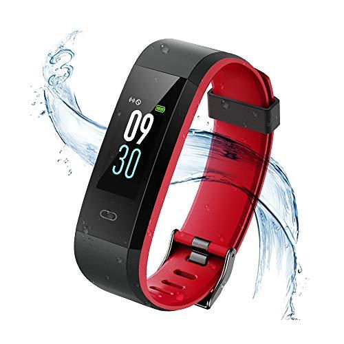 Vigorun Fitness Tracker Orologio Fitness Schermo colorato con cardiofrequenzimetro Bluetooth IP68 Impermeabile Smart Wristband Pedometro con Allarme/Calorie/Monitoraggio del Sonno per Android e iOS