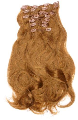 Love Hair Extensions - LHE/K1/QFC/120G/10PCS/18/10 - Thermofibre™ Lisses et Soyeux - 10 Pièces Clippants en Extensions - Couleur 10 - Medium Ash Brown - 46 cm