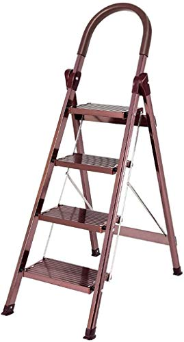 Multifunctionele ladder Aluminiumlegering Opvouwbare Ladder, verloopt in vier stappen ladder Kruk Company/banketbakkerij Trappen/twee kleuren/Ladders Werken op hoogte Huishoudelijke ladder Ladde