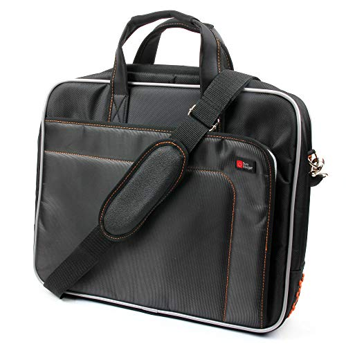 DURAGADGET Protective Laptop Briefcase Case Bag with Multiple Compartments & Padded Shoulder Strap - Compatible with Alienware M15x 15/Medion Akoya P6631/Schenker XMG P501 PRO Notebook