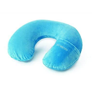 Samsonite Luggage Inflatable Neck Pillow with Cover, Pagoda Blue, One Size