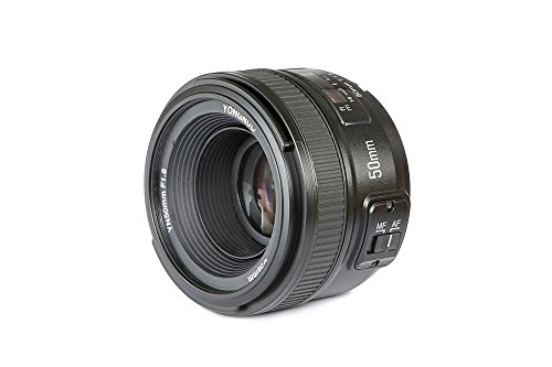 top rated YONGNUO YN50mm F1.8N standard prime lens, large aperture, auto, manual focus, AF, MF Nikon DSLR … 2020