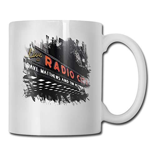 Dave Matthews Band#Live At Radio City Desk Mug Coffee Beer Cup For Men Women Gift