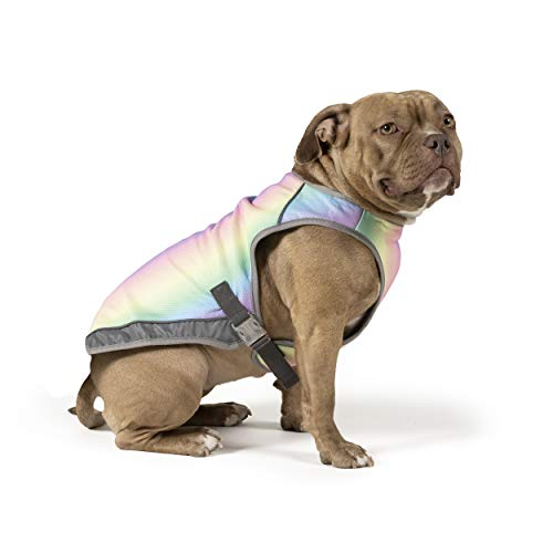 Canada Pooch Chill Seeker Dog Cooling Vest Water Evaporative and Adjustable Rainbow - Size 16 (15-17' Back Length)
