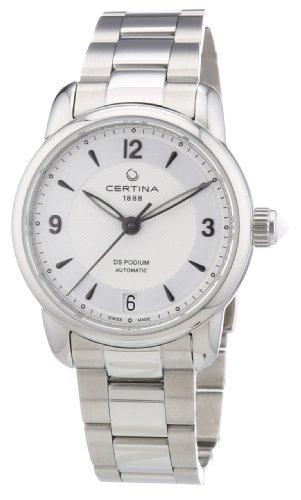 Certina C025.207.11.037.00 - Reloj de Pulsera Mujer, Acero Inoxidable, Color Plateado