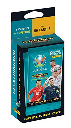 Panini France SA 004112KBF7 pochettes + 1 OFFERTE UEFA Euro 2020 Adrenalyn XL 2021 Kick Off – 6 Taschen + 1 gratis