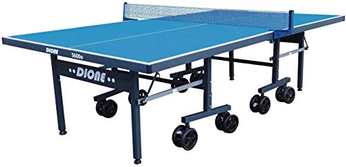 Dione S600o Mesa de ping pong para exteriores, con ruedas grandes, resistente a la intemperie, compacta, fácil de montar.