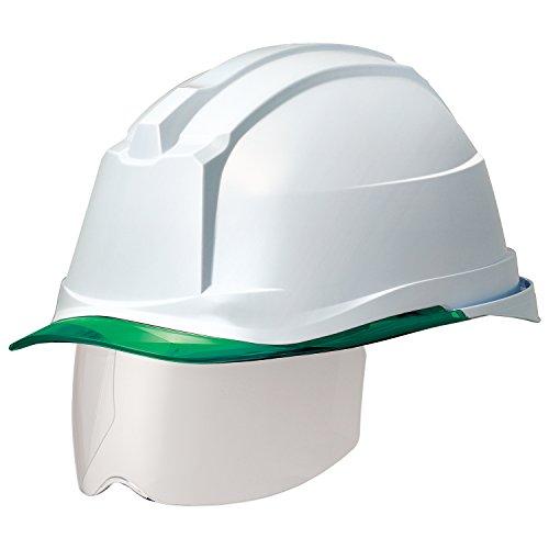 ミドリ安全 ヘルメット 一般作業用 電気作業用 スライダー面 SC19PCLS RA3 αライナー付 ホワイト/グリーン