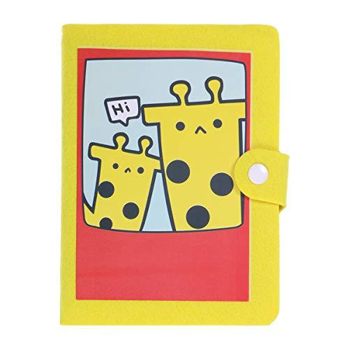 VOSAREA Mini álbum de Fotos de Dibujos Animados 4R6 Pulgadas 40 Insertar páginas Regalo Creativo Personalizado Decoración Libro conmemorativo para niñas Regalo (Cervatillo Amarillo)