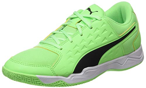 PUMA Unisex Kinder Auriz Jr Fußballschuh, Electric Green Black White, 28 EU