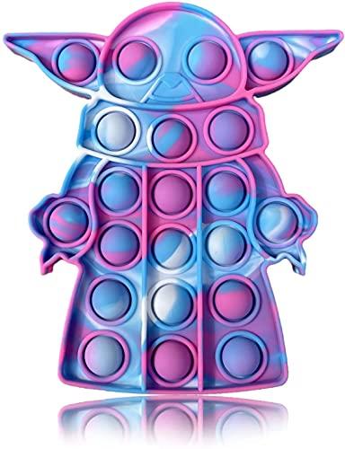 Tpcean Pop Bubble Fidget Tie Dye Push It Toy Yo-da Baby Bubble Popping Game Board Keep Baby Kids Popping (Color B)