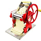 Pasta Machine, Manual Noodle Dumpling Skin Pie Maker Machine for Home and Kitchen - Red (US Shipping)