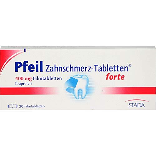 Pfeil Zahnschmerz-Tabletten forte 400 mg Ibuprofen, 20 St. Tabletten