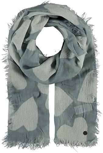 FRAAS - Toalla de lana para mujer, diseño de corazones, color turquesa