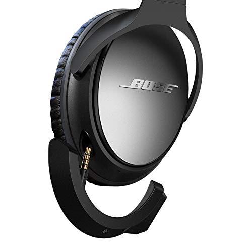YOCOWOCO Upgraded aptX Wireless Bluetooth Adapter for Bose QuietComfort QC 25 with Mic/Volume Control, Black