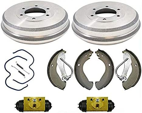 All New Rear Brake Drum Drums Shoes Spring Wheel Cylinder Chevy 04 08 Colorado product image