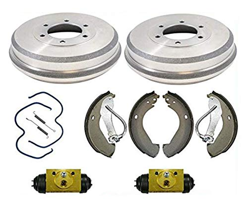 All New Rear Brake Drum Drums Shoes Spring Wheel Cylinder Chevy 04-08 Colorado