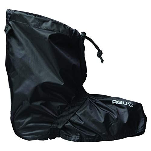 AGU Quick Bike Boots Essential Überschuhe Fahrrad, Regenschutz Schuhe, wasserdichte Schuhe für Damen & Herren, Reflektierend, 100% Recyceltes Polyester, Größe 42 bis 45 - L/XL - Schwarz