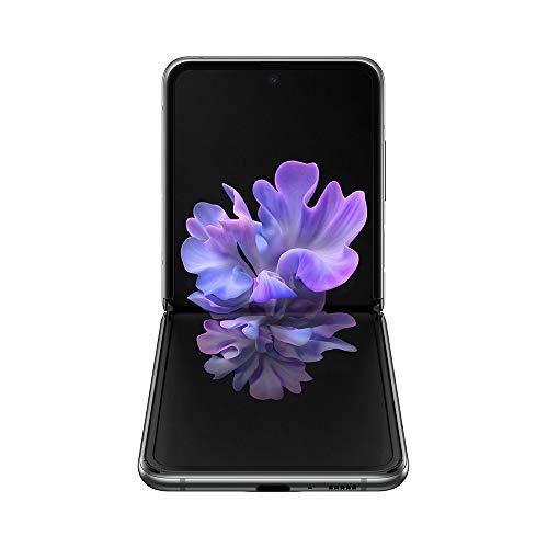 "Samsung Galaxy Z Flip 5G Smartphone, Display ext. 1.1"" Super AMOLED/int. 6.7"" Dynamic AMOLED, 256GB, RAM 8GB, Batteria 3300mAh, 5G, Single Sim/eSim, Android 10, Grigio"