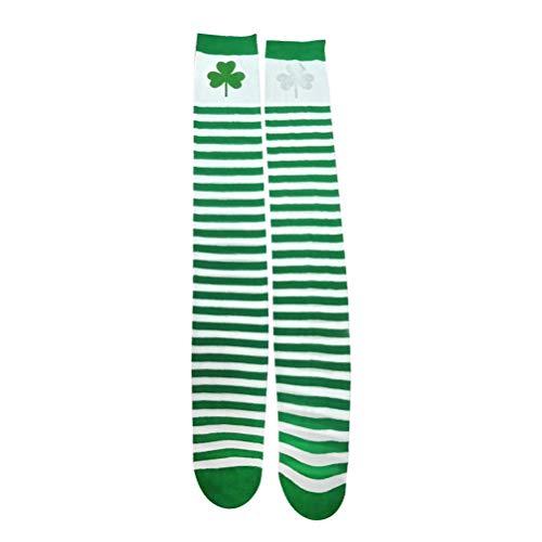 BESTOYARD Chaussettes hautes avec bas en coton St. Patricks Day