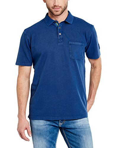 Pioneer Herren Polo-Shirt Poloshirt, Blau (Cornflower 545), Medium
