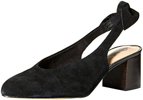 Bella Vita Women's Joni Pump, Black Suede Leather, 7.5 M US