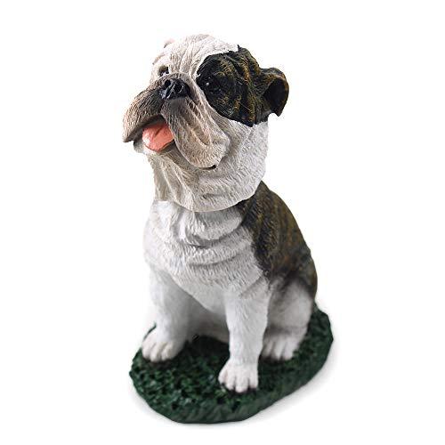 Bulldog Brindle Dog Bobblehead Figure for Car Dash Desk Fun Accessory