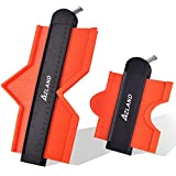Perfilador con dispositivo de bloqueo, 2 perfiladores de 12cm y 25cm como replicadores, muy adecuado para baldosas, laminados y suelos de parquet
