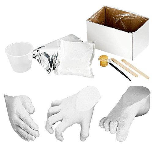 infactory 3D Abformset: Gips-Abform-Set für 3D-Form von Baby-Füßchen oder -Händchen, 8-teilig (3D Gipsabdruck Erwachsene)
