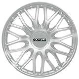 Argento//Nero Copricerchi Roma 15 Colore SPARCO SPC1596SVBK