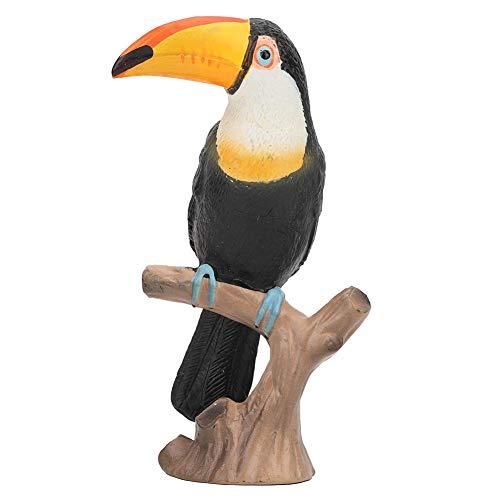 Diermodel speelgoed, levendige levensechte kinderen kinderen wild dier toekan model plastic gesimuleerde speelgoed, schattig en duurzaam puzzel speelgoed diermodel