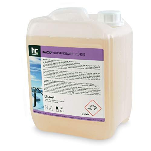 Höfer Chemie 5 L Pool Flockungsmittel flüssig BAYZID kristallklares Poolwasser - einfache Anwendung + hocheffektive Wirkung gegen Trübungen