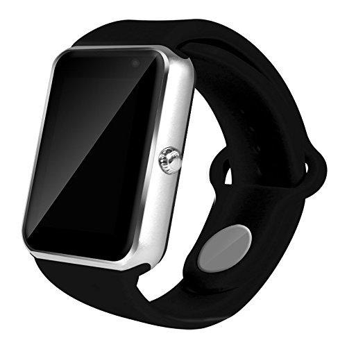 AIYIBEN U7 Bluetooth Touch Screen Bluetooth 3.0 Smart orologio da polso orologio telefono Watch compatibile con iPhone Samsung Sony LG HTC e molto altro ancora (Silver)