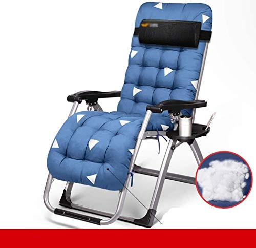 JIUYUE Lounge Chair, Lunch Break Chair, Office nap Bed, Folding Bed, Beach Chair, Outdoor Lounge Chair Deck Chair (Color : A)