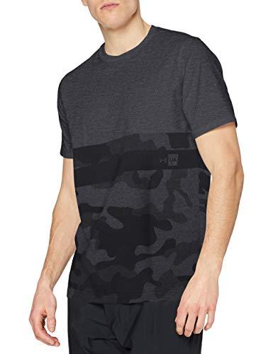 Under Armour UA Camo Border SS T Camiseta de Manga Corta, Hombre, Negro (001), L