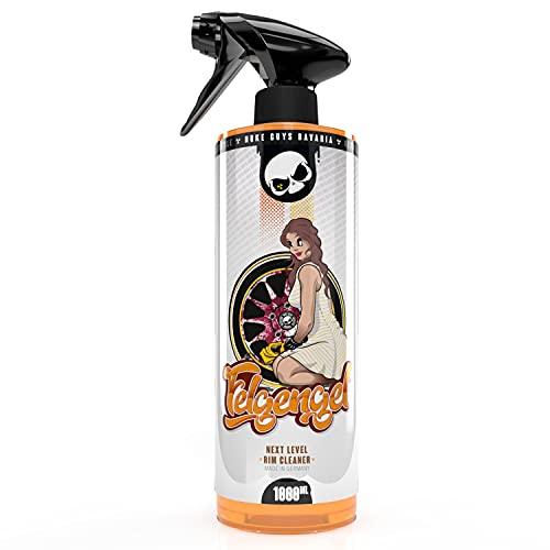Nuke Guys Felgengel Felgenreiniger, 1L Sprühflasche, Farbumschlag, pH neutral für Alufelgen, Stahlfelgen und Radkappen geeignet, sanft und kraftvoll, entfernt zuverlässig Bremsstaub und Flugrost