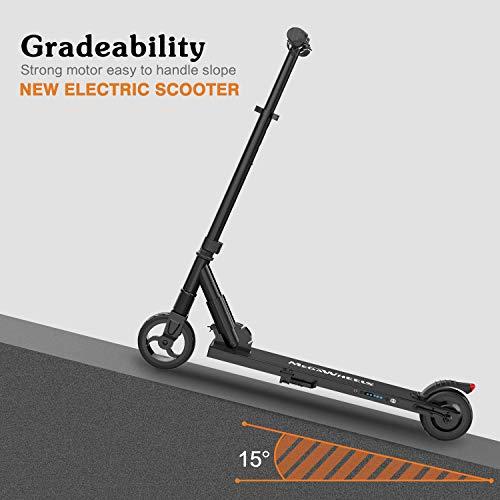 MEGAWHEELS E Scooter Tret-Roller, CityRoller Elektrischer Roller Klappbar mit 12km Langstrecken Akku, bis zu 23km/h, Einfach zu Falten und zu Tragen E-Roller für Erwachsene Jugendliche und Kinder - 4