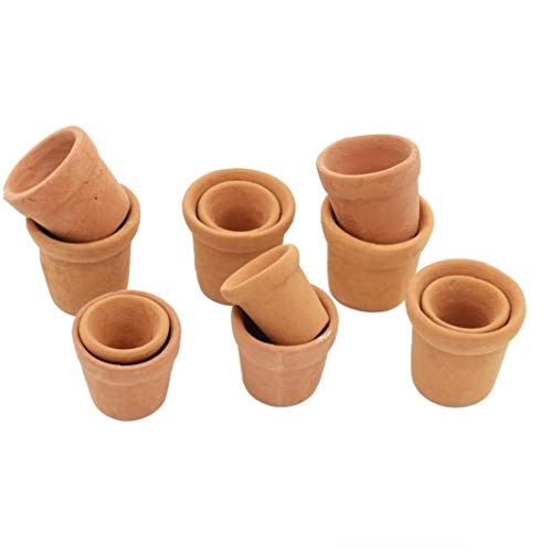 JBNS Mini Terrakotta-pflanzer Lehm Keramik-Keramik Blumentöpfe Mini-Kaktus-blumentöpfe Kaktus Sukkulenten Nursery Topf Für Indoor Outdoor Nutzung 12st