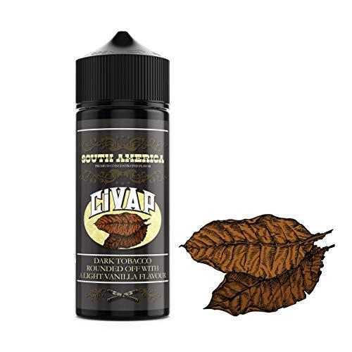 CiVAP Aroma Flavor South America Dunkler Tabak Vanille, 0mg, ohne Nikotin, Vape E Zigaretten, 30ml
