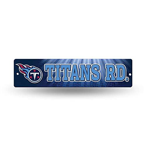 NFL Rico Industries  16-Inch Plastic Street Sign Décor, Tennessee Titans