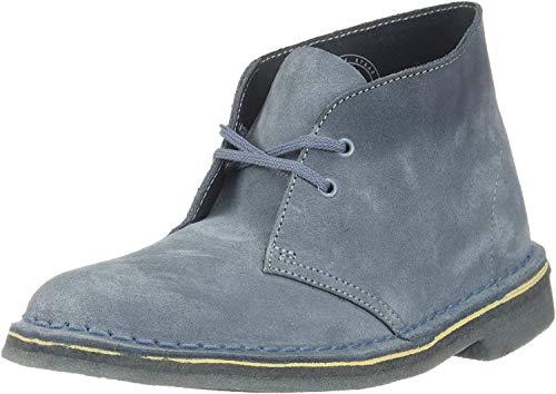 Clarks Desert Boot Blue Grey Suede 8 B (M)