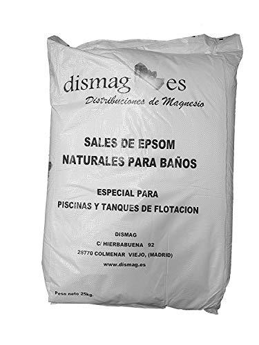 Sal de Epsom 25 Kg, Fuente concentrada de Magnesio, Sales 100% Naturales. Baño y Cuidado Personal. (25kg)