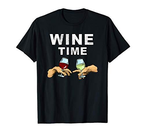Wein-Zeit- Rotwein & Weißwein - Wein trinken Michelangelo T-Shirt