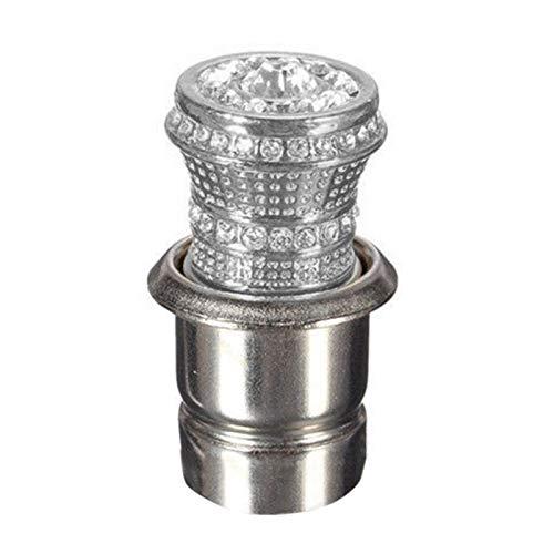 Porfeet Stilvolle Blin-g Auto Universal Faux Crystal Cigarett-e Feuerzeug Heizung Auto Decor Silber Einheitsgröße