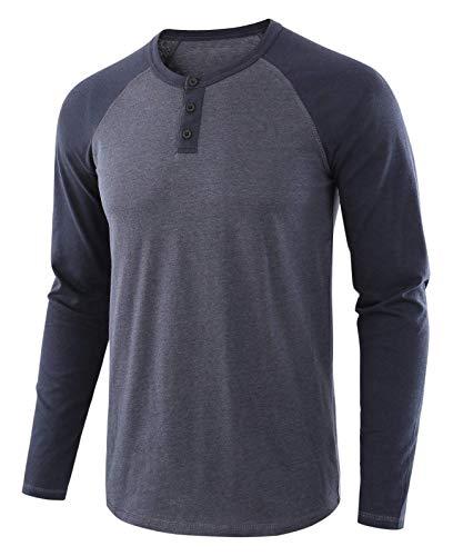 LBL Sweat Shirt Pull Homme Col Rond Respirant Souple Manches Longues pour Printemps Automne Gris Fonce M