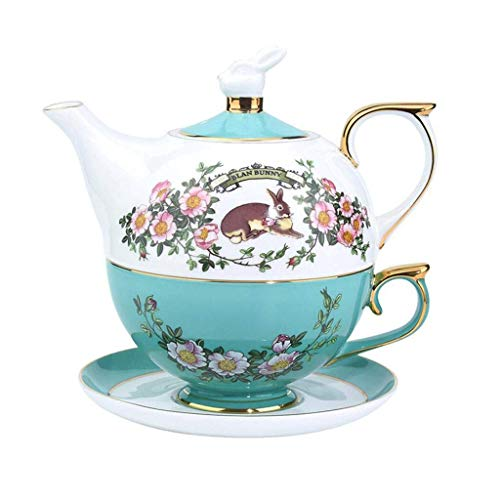 Purchase Nuokix Teapots, Tea Set Coffee Set, European Bone China, Hand-Painted Gold, for The Family,...