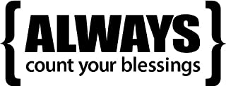 """Tapestry Of Truth - Always Count Your Blessings (Size: 32"""" x 12"""") - TOT6602 - Wall and home scripture, lettering, quotes, images, stickers, decals, art, and more!"""