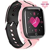 【Kids Smartwatch】- Children's Smart Watch Phone, 10 Can Be Set Name SOS Two-Way Calling Music Player Games HD Camera Alarm Clock Calculator Set Wallpaper for Free, Suitable for Teenagers 4-12y(Pink)
