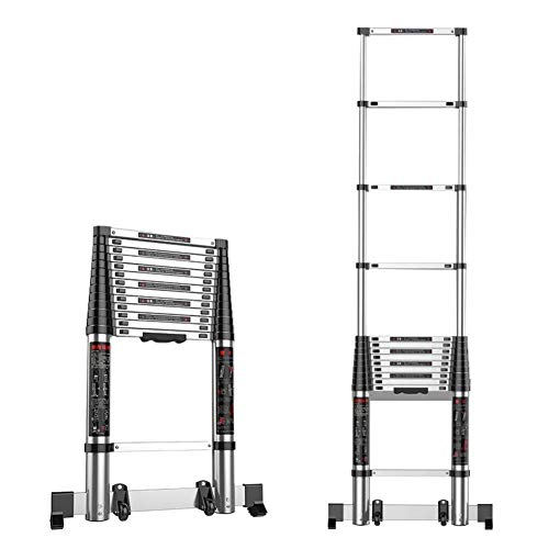 Telescoping Uitbreiding Ladder, aluminium telescopische ladder, Multi-Purpose Vouwladders for industriële of huishoudelijke mdash;330 Pound Capaciteit (Maat: 3,5 m / 11.5ft) 8bayfa
